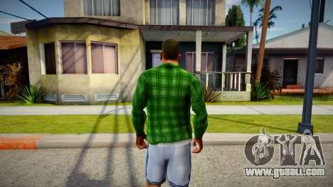 Green Plaid Shirt for GTA San Andreas