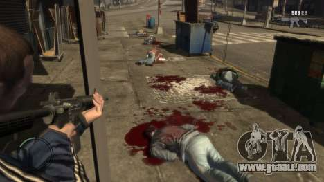 Blood Mod for GTAIV for GTA 4