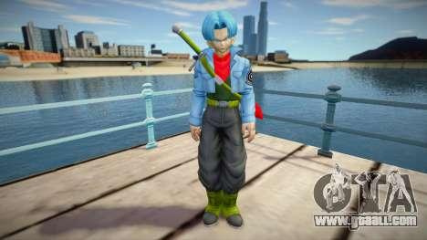 Trunks blue hair for GTA San Andreas