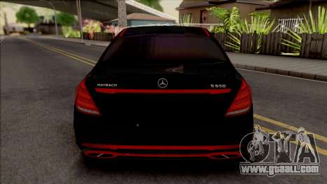 Mercedes-Maybach S650 Black-Red Tuning for GTA San Andreas