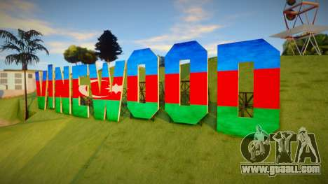 Vinewood Azerbaijan Flag for GTA San Andreas