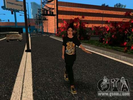 Cute girl Maria for GTA San Andreas
