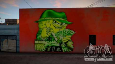 Gangster Spongebob Graffiti for GTA San Andreas