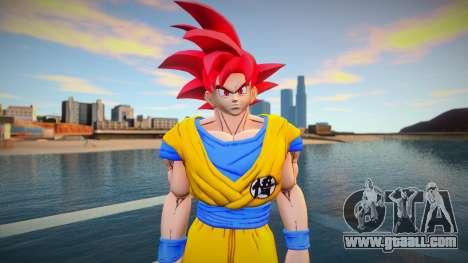 Goku God Red for GTA San Andreas
