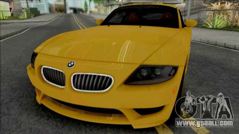BMW Z4 M Coupe 2008 [IVF ADB VehFuncs] for GTA San Andreas