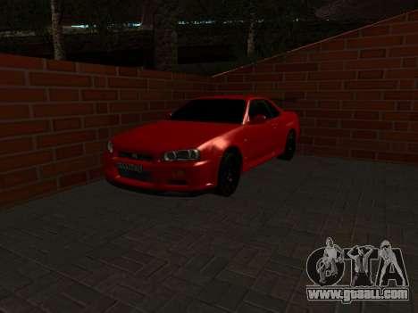 Nissan Skyline GTR34 RUS Plates for GTA San Andreas