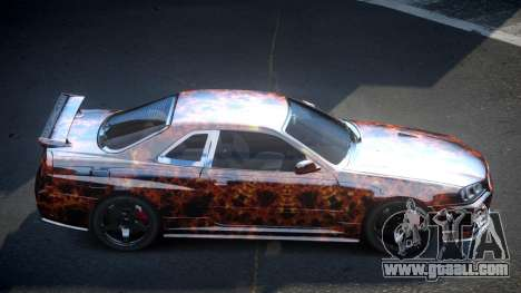 Nissan Skyline R34 PSI-U S4 for GTA 4