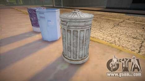 HQ Trash Bin for GTA San Andreas