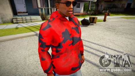 Red Camo Hoodie for GTA San Andreas