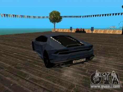 Lamborghini Huracan RUS Plates for GTA San Andreas