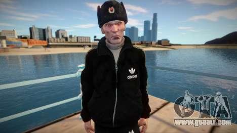 Adult gopnik in winter hat for GTA San Andreas