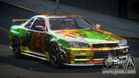 Nissan Skyline R34 PSI-U S9 for GTA 4