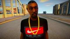 African American in Nike T-shirt for GTA San Andreas