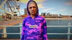 Purple sweatshirt ped from GTA Online for GTA San Andreas