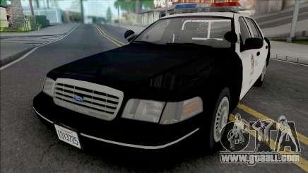 Ford Crown Victoria 1998 CVPI LAPD v2 for GTA San Andreas