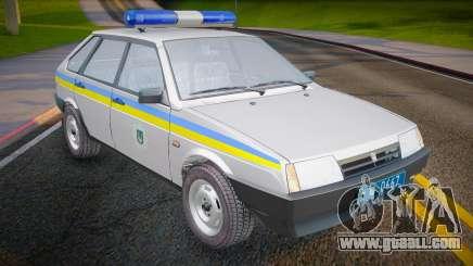 VAZ 2109 Militia of Ukraine for GTA San Andreas