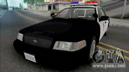 Ford Crown Vic. 2000 CVPI LAPD (Vista Light) v2 for GTA San Andreas