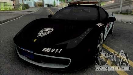 Ferrari 458 Italia Police for GTA San Andreas