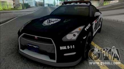 Nissan GT-R Black Edition Police for GTA San Andreas