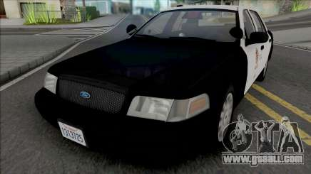 Ford Crown Victoria 2007 CVPI LAPD GND v3 for GTA San Andreas