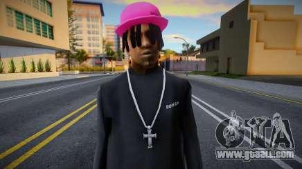 Fam2 pink cap, Polo Ralph for GTA San Andreas