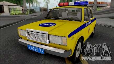 VAZ-2107 TRAFFIC POLICE Samara region for GTA San Andreas
