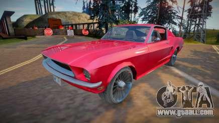 Ford Mustang Fastback 1968 (good model) for GTA San Andreas
