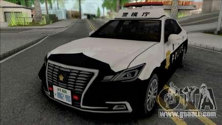 Toyota Crown Royal Saloon 2016 Patrol Car for GTA San Andreas
