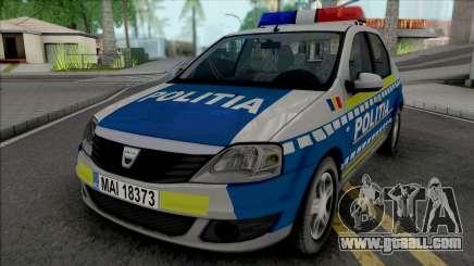 Dacia Logan Politia Romana for GTA San Andreas