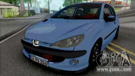Peugeot 206 GTI [ADB IVF VehFuncs] for GTA San Andreas