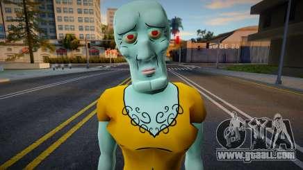 Handsome Squidward (SpongeBob Squarepants) for GTA San Andreas