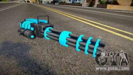 Blue Tron Legacy - Minigun for GTA San Andreas