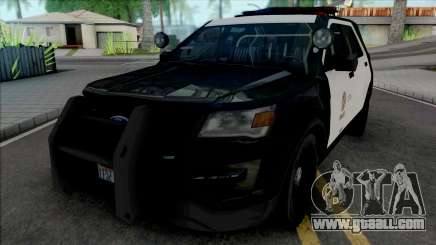 Ford Explorer 2017 LAPD for GTA San Andreas